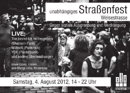 Plakat Weisestrassenfest 2012