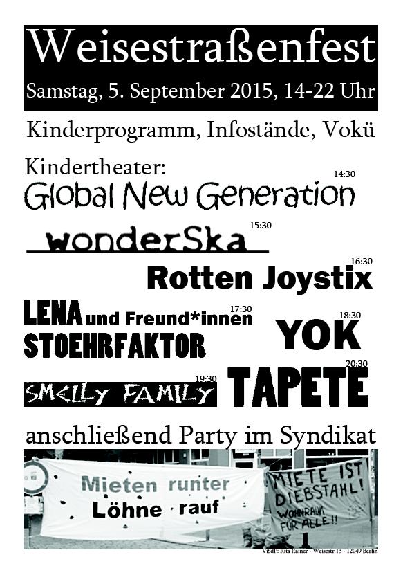 Weisestrassenfest 2015