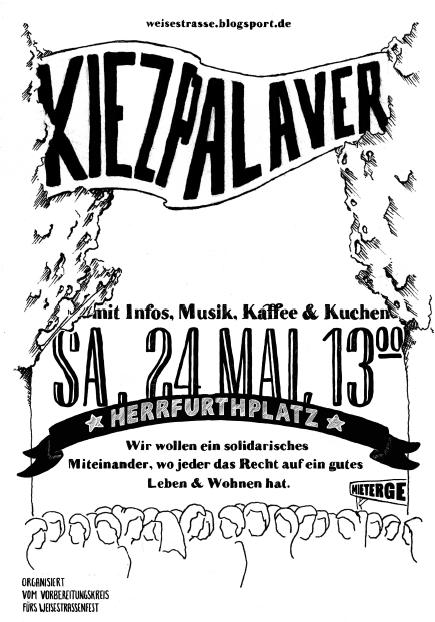 Kiezpalaver Schillerkiez 24. Mai 2014