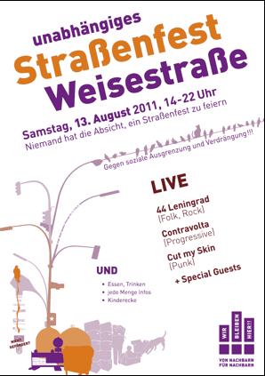 Strassenfest Weisestrasse 2011