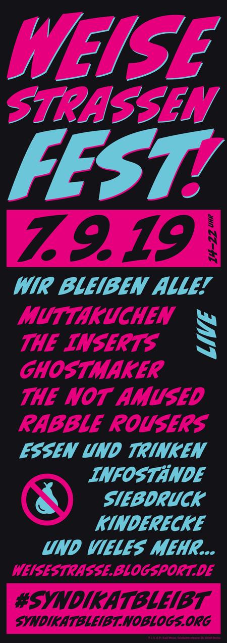 Plakat Weisestrassenfest 2019