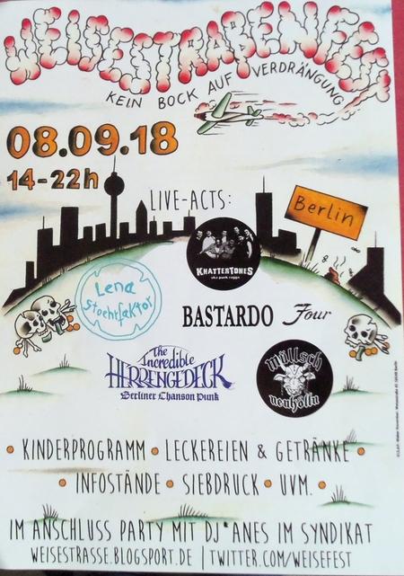 Weisestrassenfest 2018 Plakat