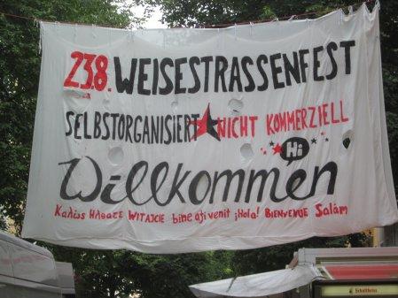 Willkommen zum Srassenfest Weisestrasse